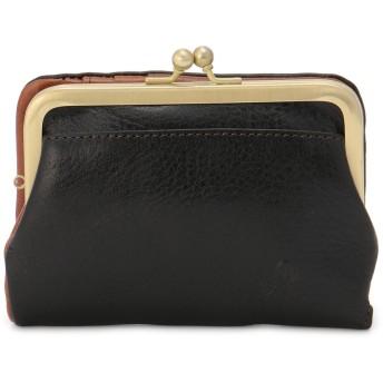 Folna [フォルナ]Folnaヌメオイルシュリンクがま口二つ折り財布 財布,ブラック