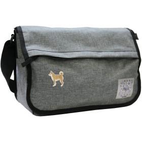 プラスエイチ(Plus H) メッセンジャーバッグ ショルダーバッグ 柴犬 メンズ レディース PH8384 (チャコールグレー/柴犬(きつね色))