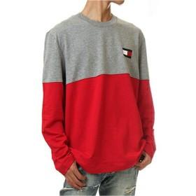 (トミーヒルフィガー) TOMMY HILFIGER USA/MODERN ESSENTIALS Crew neck Sweatshirt【S-2XL】クルーネック 長袖Tシャツ USAモデル 日本未発売 メンズ ユニセックス 09T3320 (M, グレーヘザー) [並行輸入品]