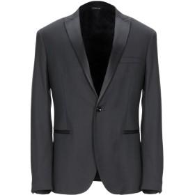 《期間限定セール開催中!》TONELLO メンズ テーラードジャケット ブラック 48 ウール 55% / レーヨン 42% / ポリウレタン 3%