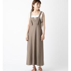 【ミスティック/mystic】 リネン肩ベルトワンピース