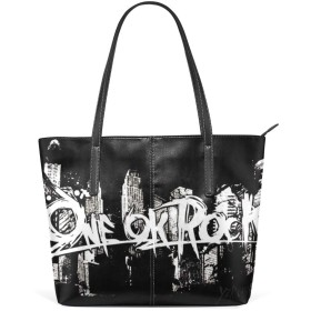 ONE OK ROCK トートバッグ ハンドバッグ レディース メンズ ママバッグ 手提げバッグ かばん a4 通学 通勤 大容量 PUレザー 丈夫 軽量 旅行 ビジネス ファスナー