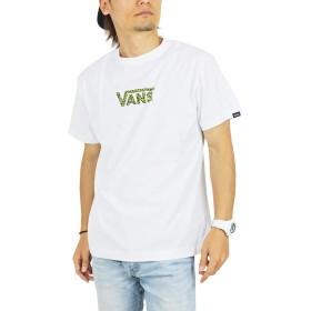(バンズ) VANS レオパード柄 ロゴプリント 半袖Tシャツ VA19HS-MT21 (M, WHL:ホワイト/ライム)
