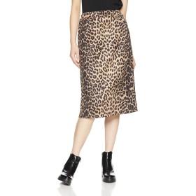 [ウィゴー] WEGO レオパード ナロー スカート アニマル FREE フリー サイズ 柄1