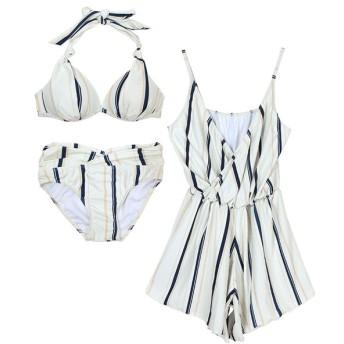 [マルイ] 【SEA DRESS】カシュクールロンパース&ビキニ/水着3点セット/ティティベイト(titivate)