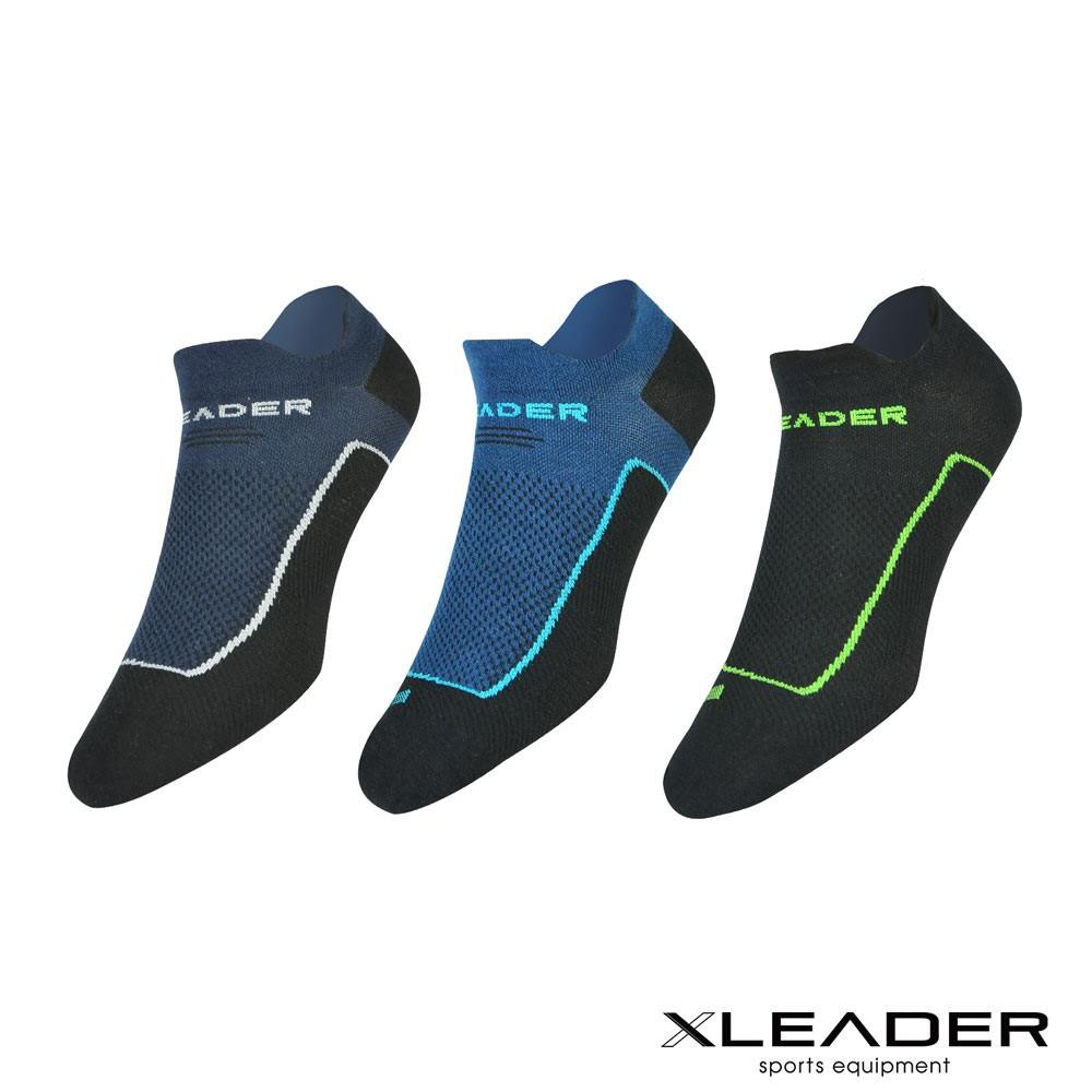 台灣製 LEADER X ST-01環形加壓 網眼導流透氣護踝薄短襪 機能除臭運動襪 男款