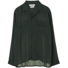 【6,000円(税込)以上のお買物で全国送料無料。】mens ドロップテンセルレーヨン2ポケオープンシャツ
