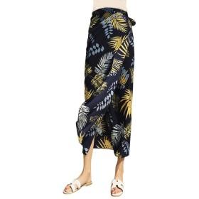 Wodery 花柄スカート レディース リゾート ラップスカート ロングスカート 巻き リボン 涼しい 女性らしい フレアスカート Aラインスカート マキシ丈 夏 シフォン デート フリーサイズ 海 カジュアル デート 13種豊富な柄