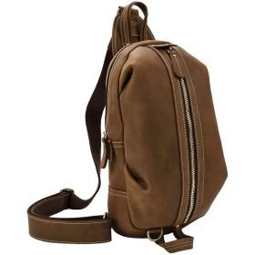 本革 ボディバッグ メンズ レザー ワンショルダーバッグお洒落 斜め掛鞄 肩掛けバッグ 左右肩掛け ディバッグ かっこいい 9.7インチ iPad 折り畳み傘対応