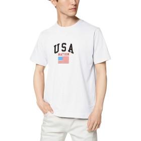 [ウィゴー] WEGO USA ロゴ T シャツ 半袖 2 S ホワイト メンズ