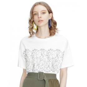 【10%OFF】 グレースコンチネンタル リバーレースTシャツ レディース ホワイト 36 【GRACE CONTINENTAL】 【タイムセール開催中】