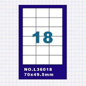 (5包)OGI A4標籤貼紙3欄6列/50張入 四邊直角 雷射.噴墨.點距陣各式列表機專用 標籤貼紙No.L36018