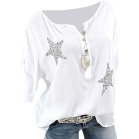 VITryst Women's Spring Pullover Long-sleeve O-neck Tee Blouse Top White XS