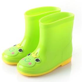 [Wanghong] 子供用レインブーツ キャラクター 可愛い長靴キッズレインシューズ雨靴ジュニアスニーカー防水防寒 入園準備子ども幼児小学生通園通学女の子男の子安全 雨、雪遊び 無地雨具軽量軽いおしゃれ 4色 綿がつくのもある