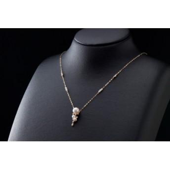 【華やか可愛い♪アコヤ真珠】ペンダントネックレス P-91