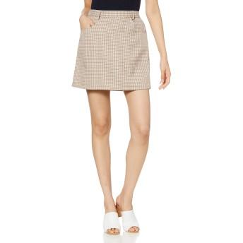 [ウィゴー] WEGO チェック タイト ミニ スカート FREE フリーサイズ ベージュ チェック レディース