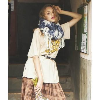 リップスター 70sロゴBIGTシャツ レディース オフホワイト M 【LIPSTAR】