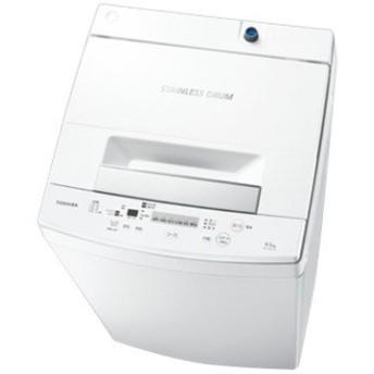 東芝 全自動洗濯機(4.5kg) パワフル洗浄ホワイト 【配送のみ設置無し 軒先渡し】 AW-45M7(W)