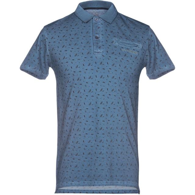 《期間限定セール開催中!》YES ZEE by ESSENZA メンズ ポロシャツ ブルーグレー M コットン 100%