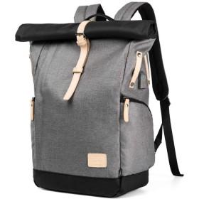 LEMU バッグ メンズ おしゃれ バックパック 防水 収納力抜群 15.6インチ パソコン対応 リュック USBポート 軽量 多機能 ビジネス バッグ