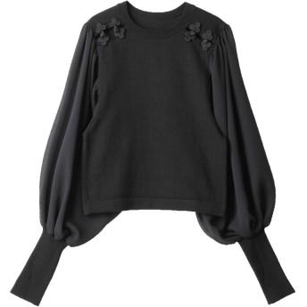 [PAMEO POSE]Mandarin Knit Top