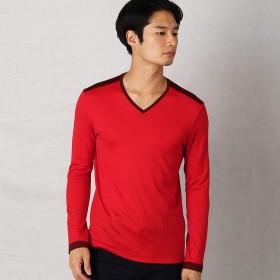 (コムサ メン) COMME CA MEN ウォッシャブルウールTシャツ 07-40TI02-108 M レッド