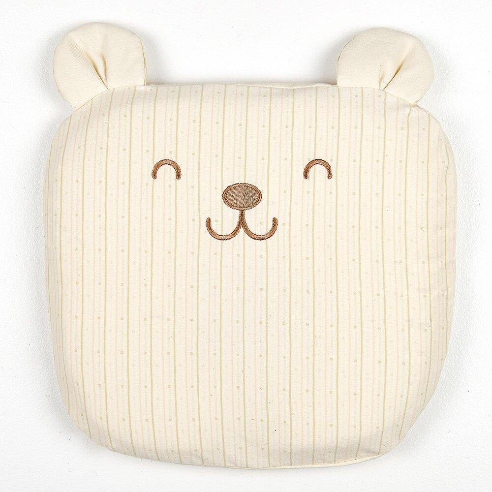 Les enphants 有機棉透氣護頸動物枕-小熊