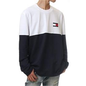 (トミーヒルフィガー) TOMMY HILFIGER USA/MODERN ESSENTIALS Crew neck Sweatshirt【S-2XL】クルーネック 長袖Tシャツ USAモデル 日本未発売 メンズ ユニセックス 09T3320 (L, ダークネイビー) [並行輸入品]