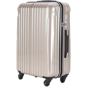 strike(ストライク)超軽量 2年保証 スーツケース カラー限定 TSAロック搭載 旅行バック トランクケース 旅行カバン (大型アウトレット, シャンパンゴールド)