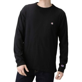 Champion チャンピオン ロングスリーブTシャツ ロンT 長袖 クルーネック C3-P401 メンズ ブラック:XXL