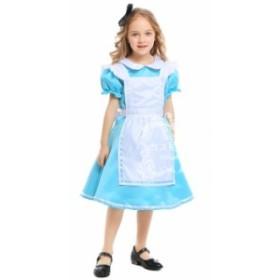 ハロウィン 子供用 女の子 ワンピース メイド服 コスチューム 仮装 コスプレ プリンセス キャラクター Halloween衣装 ステージドレス 欧