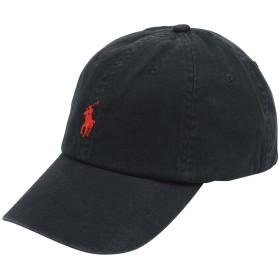 《期間限定セール開催中!》POLO RALPH LAUREN メンズ 帽子 ブラック one size コットン 100% Cotton Chino Cap