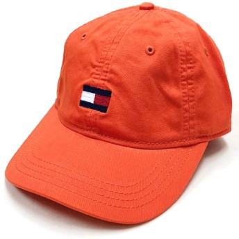 TOMMY HILFIGER CAP トミー ヒルフィガー 6パネル キャップ オレンジ