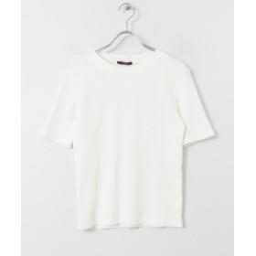 【50%OFF】 アイテムズ アーバンリサーチ リブニットTシャツ レディース WHT FREE 【ITEMS URBANRESEARCH】 【セール開催中】