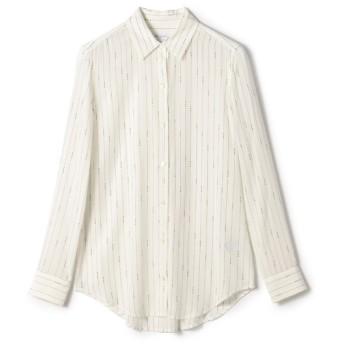 EQUIPMENT / ストライプシャツ ライトホワイト/X-SMALL(エストネーション)◆レディース シャツ/ブラウス