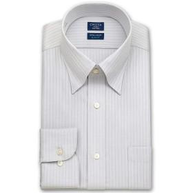 [チョーヤ] ワイシャツ スリム アポロコット 綿 100% 形態安定 加工 長袖 ノーアイロン ドレスシャツ スナップダウン メンズ [280-3882] CFD34