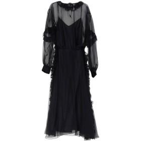 《期間限定 セール開催中》ROCHAS レディース ロングワンピース&ドレス ブラック 40 100% シルク