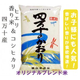 19-478.香り米ヒエリ入りオリジナルブレンド米「四万十のかおり」10kg