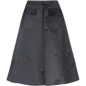 《セール開催中》ROCHAS レディース 7分丈スカート ブラック 38 ポリエステル 100%