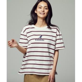 KANGOL マルチボーダーTシャツ レディース オフシロ
