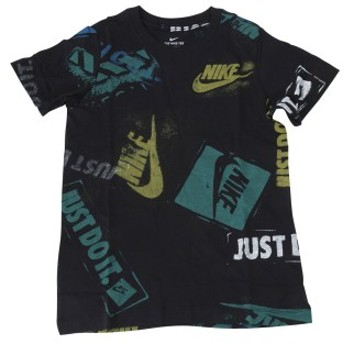 キッズ 【NIKE ウェア】 ナイキウェア K スタンプ AOP Tシャツ BQ2711-010 010 BLACK 140