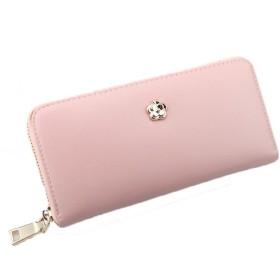 ENMNM 長財布 レディース 財布 ウォレット 小銭入れ スマホ収納 おしゃれ 大容量 可愛い 女性用 軽い 多機能 (ピンク)