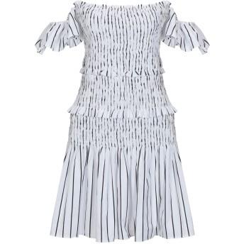《セール開催中》PINKO レディース ミニワンピース&ドレス ホワイト 40 コットン 100%