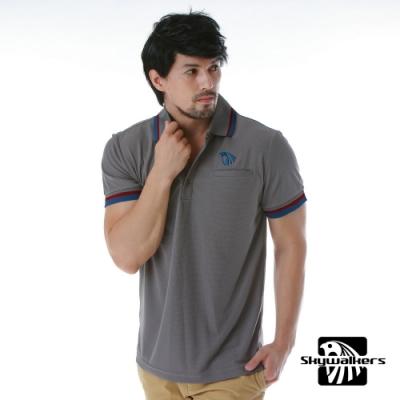 Skywalkers 經典款排汗POLO衫(灰/藍紅)