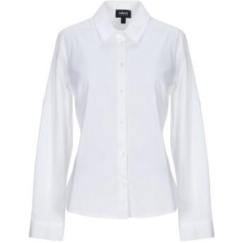 《セール開催中》ARMANI JEANS レディース シャツ ホワイト 42 コットン 97% / ポリウレタン 3%
