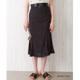 Libby & Rose ドットマーメイドスカート ブラック M レディース 5,000円(税抜)以上購入で送料無料 ひざ丈スカート 夏 レディースファッション アパレル 通販 大きいサイズ コーデ 安い おしゃれ お洒落 20代 30代 40代 50代 女性 スカート
