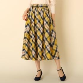 [マルイ]【セール】【WEB限定サイズ(S・LL)あり手洗い可】先染チェックフレアスカート/クチュールブローチ(Couture Brooch)