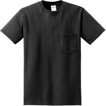 ギルダン GILDAN Tシャツ 米国ブランド 半袖 ポケット付き 6oz ヘビーウェイト サイズ S~2XL 2300 (L, ブラック) [並行輸入品]