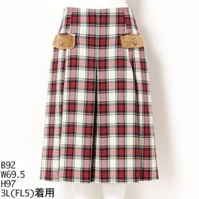 [マルイ] タータンチェック丈長スカート/フランシュリッペ(大きいサイズ)(franche lippee)