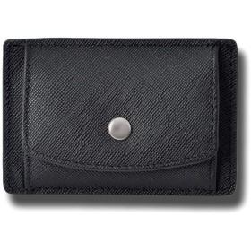 牛革 コインパス カードケース メンズ コンパクト 小銭入れ 本革 カードケース ウォレット レディース ユニセックス F ブラック